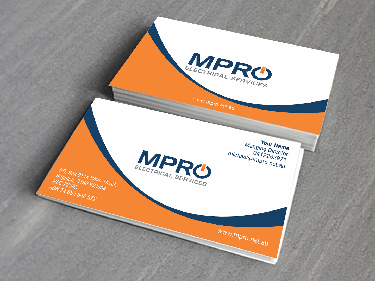 Business card design logodee custom logo and web design company business card design reheart Image collections