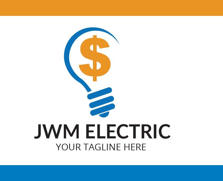 Jwm Electric Vector Logo Design