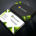Awesome Business Card Design Green Color