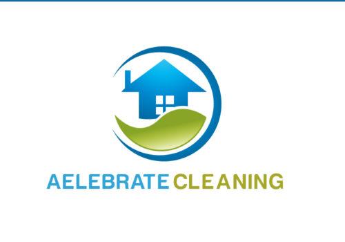 Real Estate Logo Design For Aelebrate Cleaning Logo Design