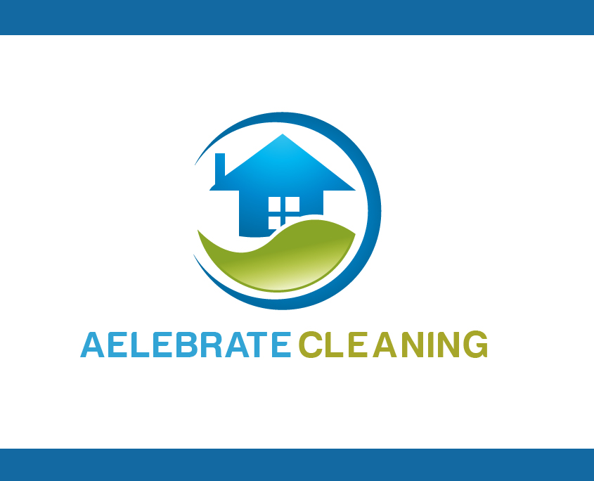 Real Estate logo design for Aelebrate Cleaning Logo Design