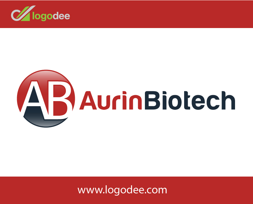 Aurin Biotech Minimal Logo Design