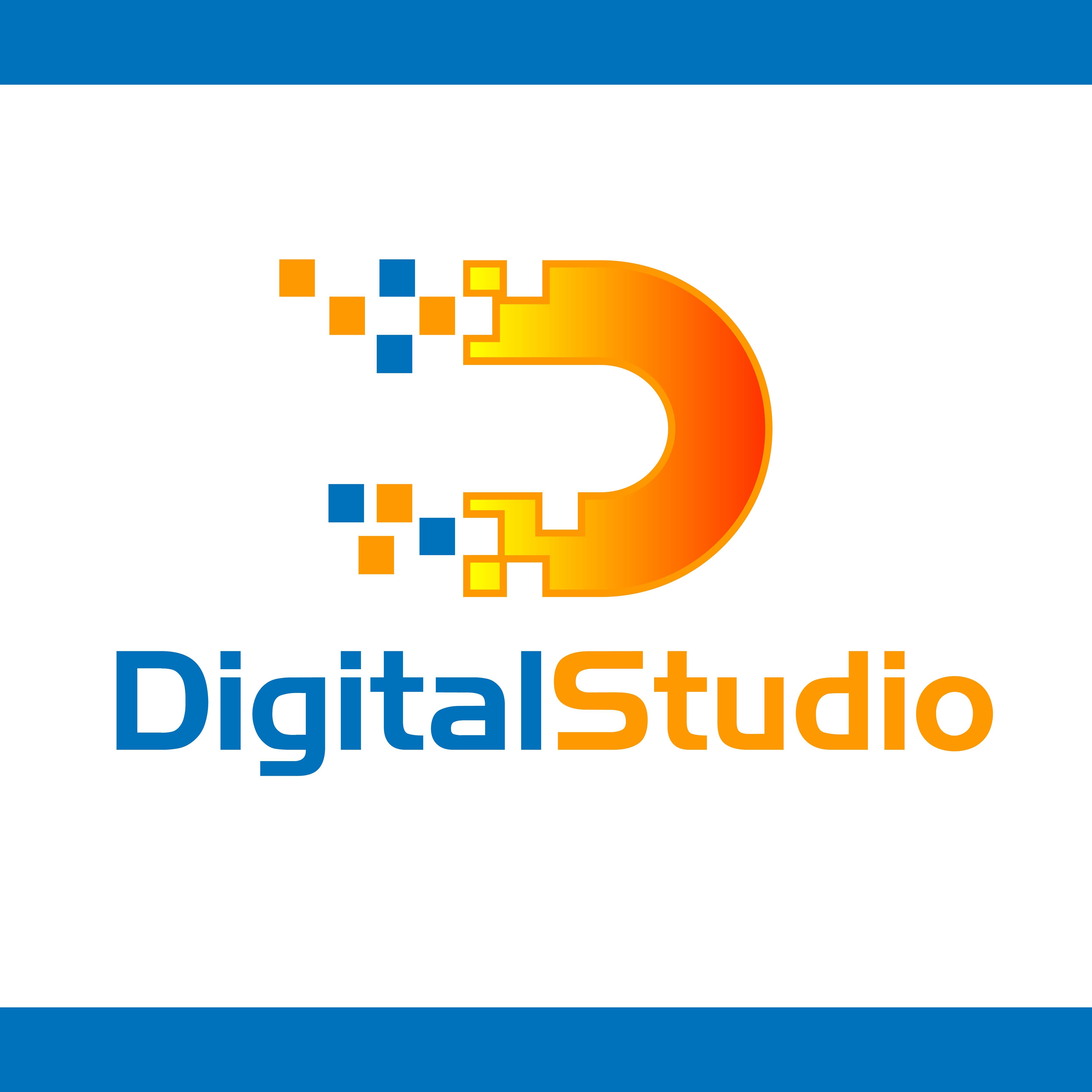 Modern Digital Studio Logo Design