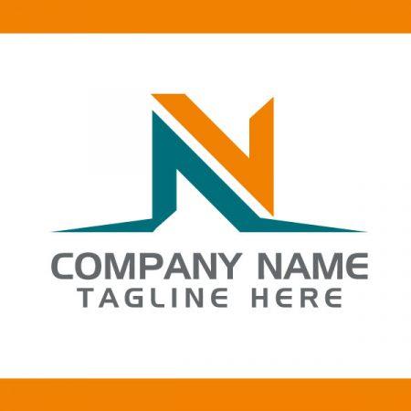 Best N letter logo design Vector
