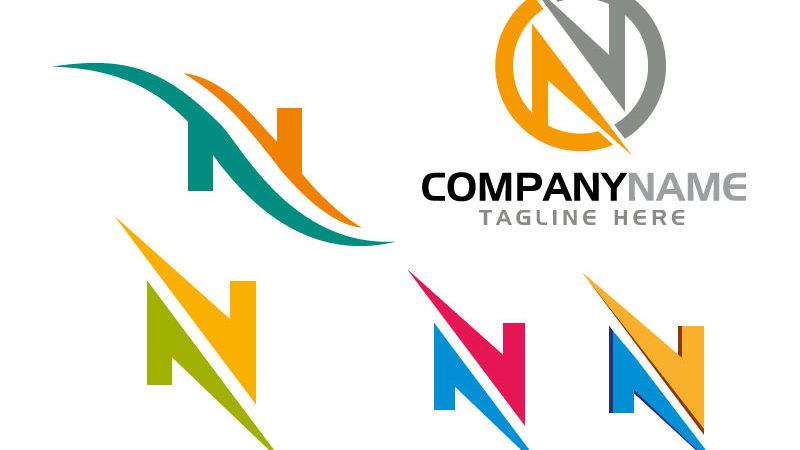 Creative-N-Letter-Logo-Design-Vector