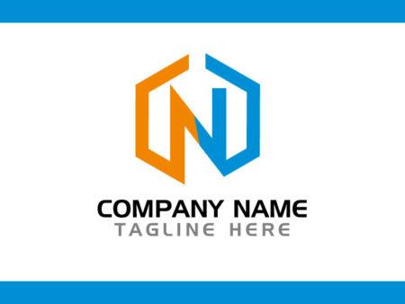 Modern N Letter Logo Design Vector