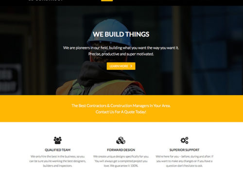 Construct A Business Website Design