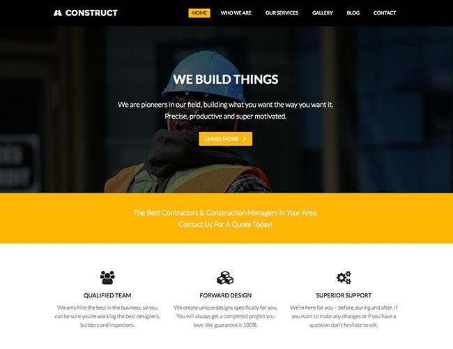 construct a business website design