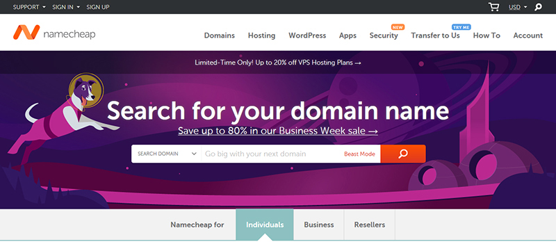 Super High-speed Hosting CompanyNamecheap