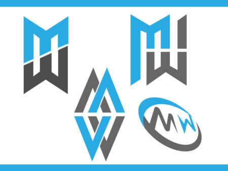 Letter M W logo design awesome ideas