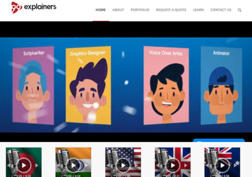 99explainers Website Design