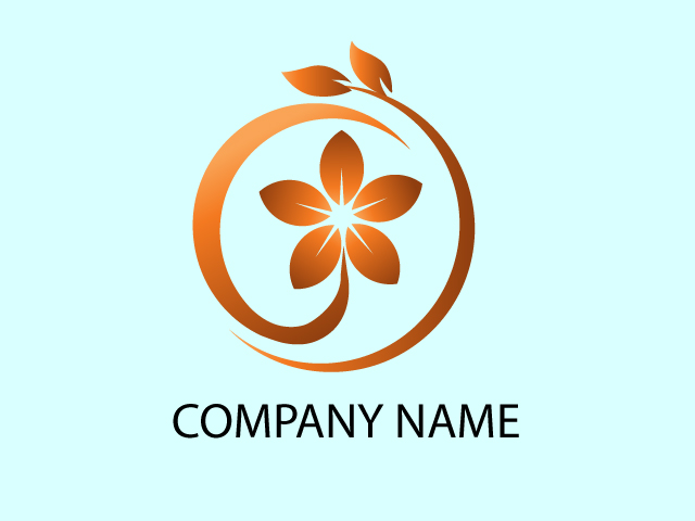 Logo Design with Flowers Free Download