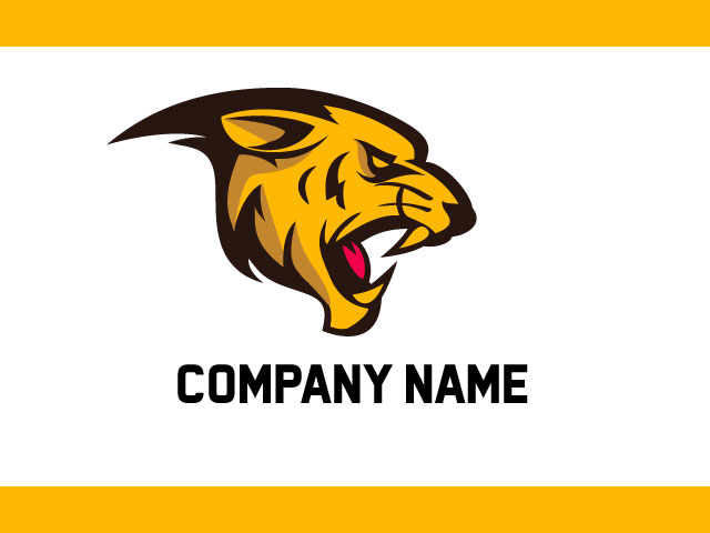 Tiger Head 3d free logo design Vector