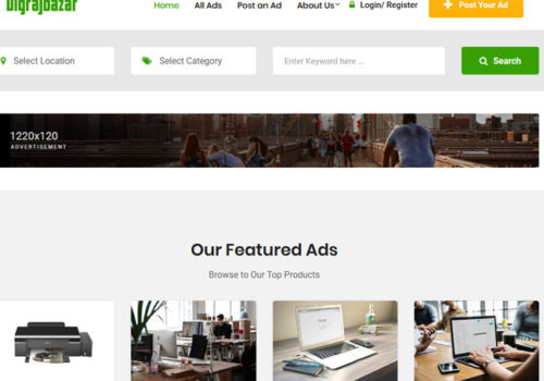 Digrajbazar Classified Ad Posting Web Design