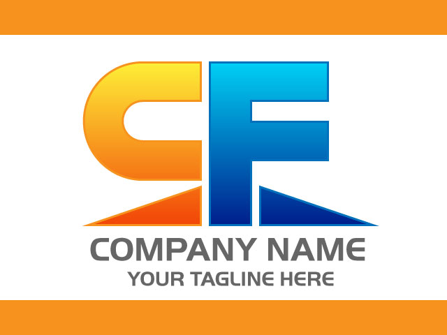 Letter C F Creative Logo Design Vector