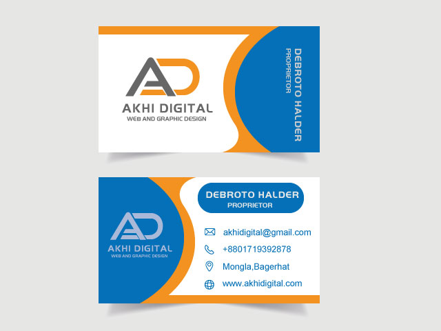 Unique Business Card Design. Business identity