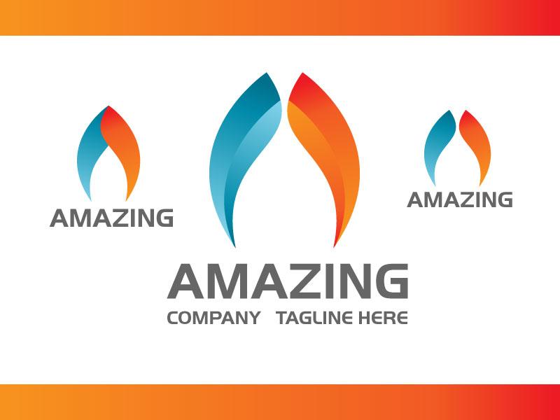 Amazing Modern Letter A Logo Design