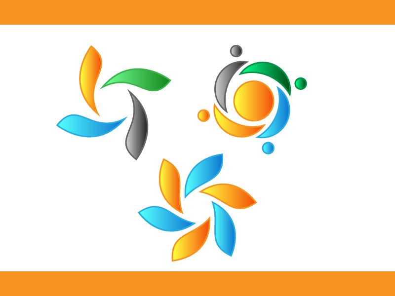 Circle Shape Multimedia Logo Design
