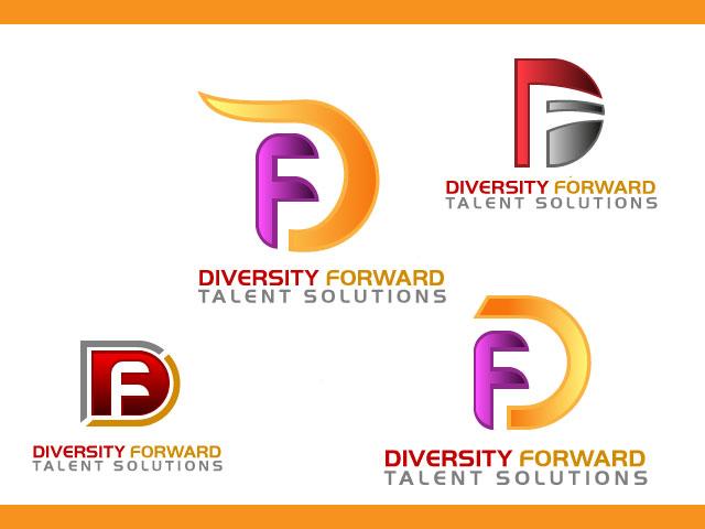 Letter F D Logo Design For Diversity Forward