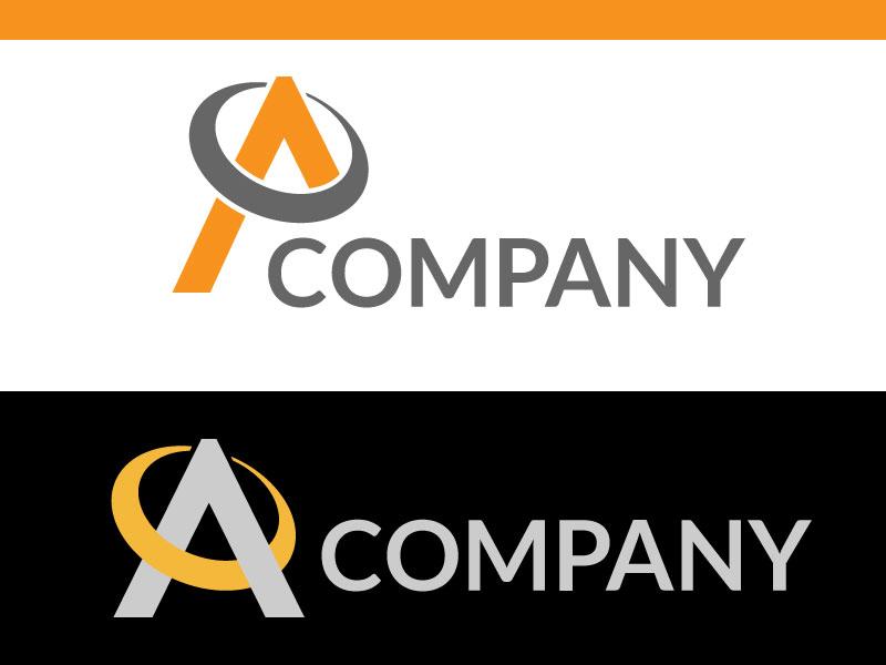 Technology letter A logo logo design creative