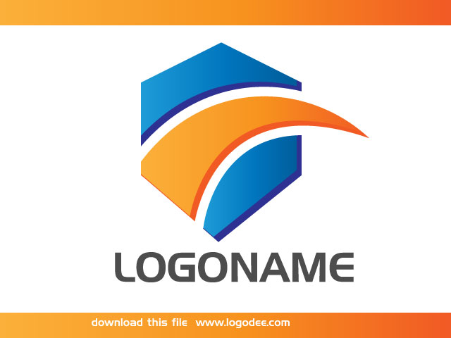 Modern corporate company logo design idea