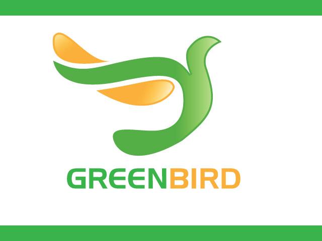 Green Bird Modern Logo Design