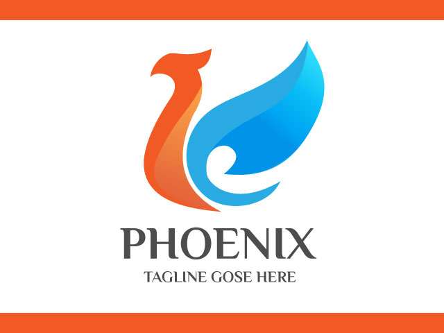 3d Phoenix Logo Design Vector