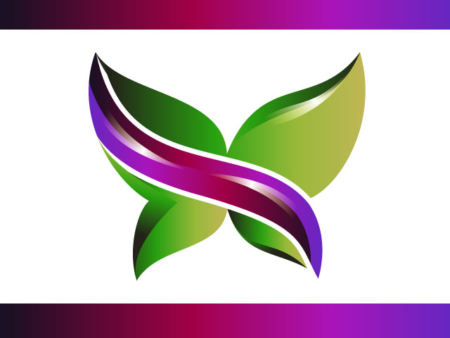Butterfly Logo Creation 3D High Quality