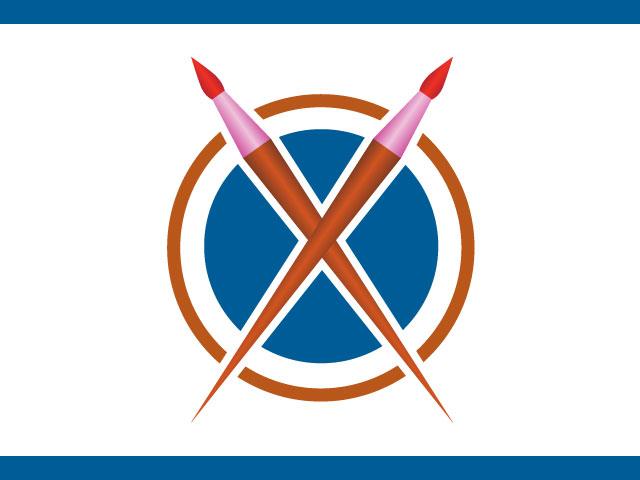 Business Logo Design Using Brush Icon