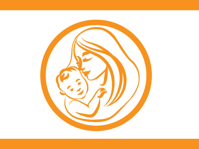 Mother And Child Care Medical Free Logo