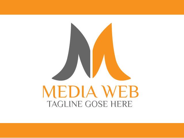 Media web letter m logo design free