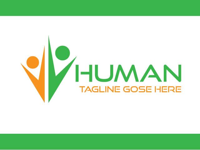 Human Life Business Logo Design Vector