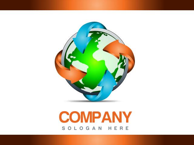 Company Logo Design Globe Logo Design
