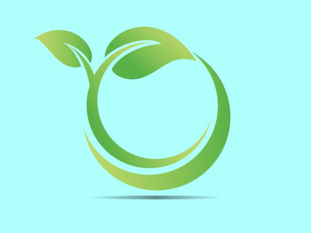 Green Leaves Logo Design Ideas