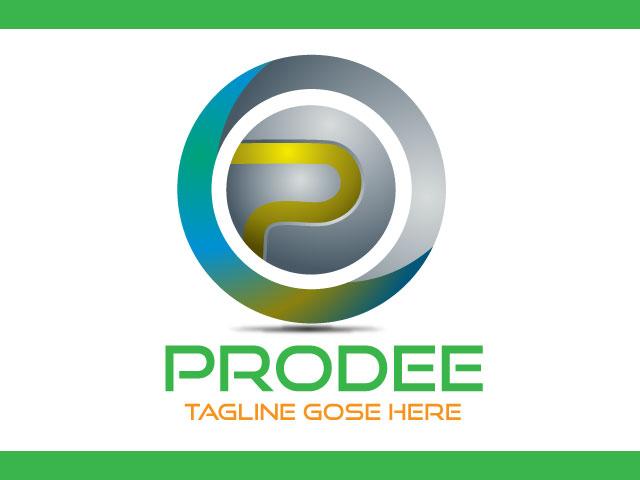 Modern Letter P Logo Design Vector