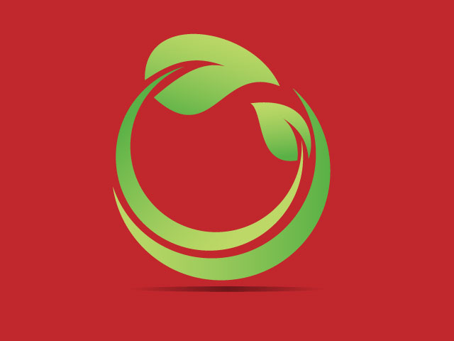 Logo Made With Tree Leaves Vector