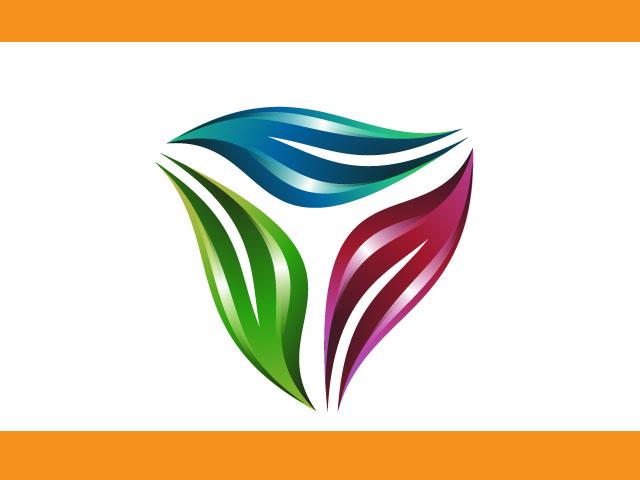 Triangle Shaped Vector Logo Design
