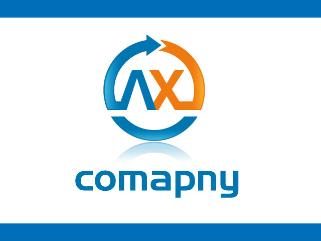 Company Logo Design For Letter A X Vector