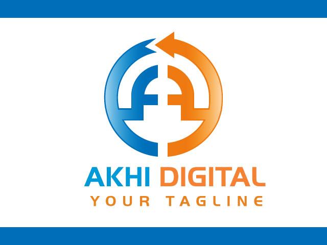 Creative letter A logo design vector