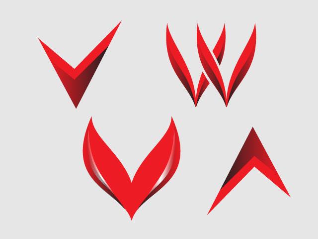 Varieties Letter Minimal Logo Design Idea