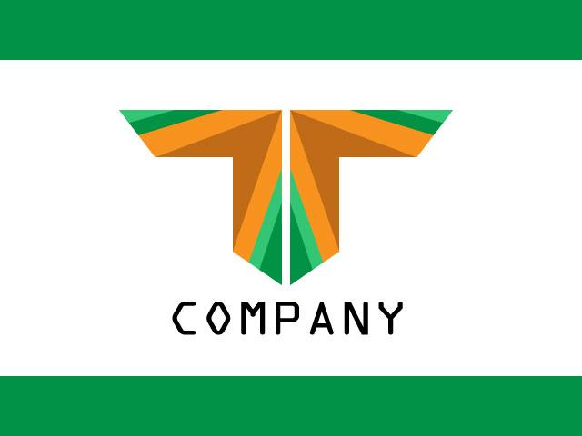 Cooperate Letter T Logo Design Idea