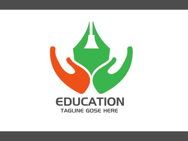 Online Education Service Logo Design
