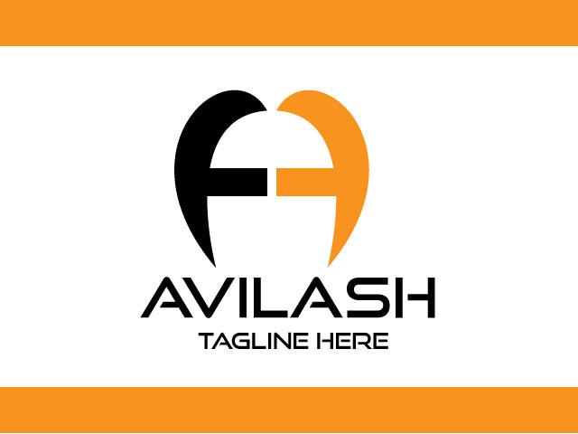 Digital A Letter Minimal Logo