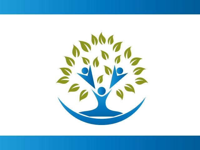 Human Life Tree Logo Design Vector