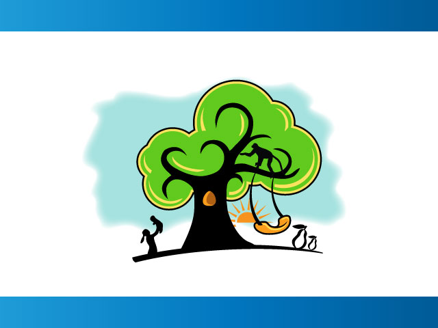 Plum Tree Human Life Logo Design
