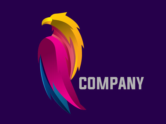 3d Eagle Logo Design Vector