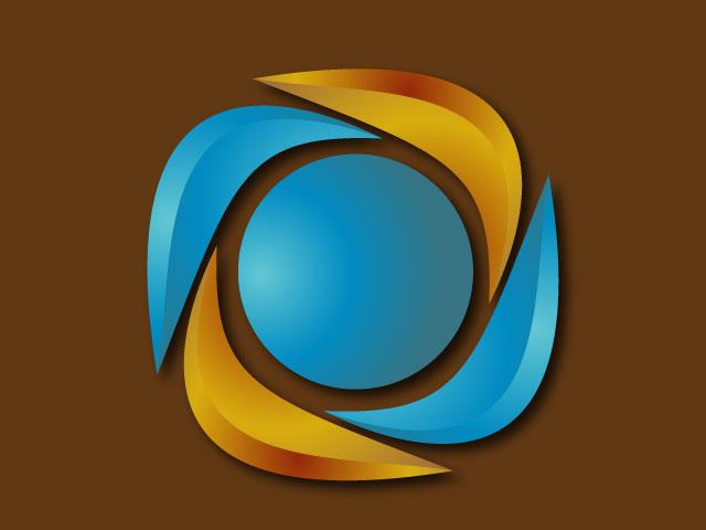 Modern 3d Minimal Logo Design Vector