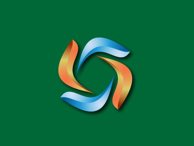 3d Modern Company Logo Design Vector
