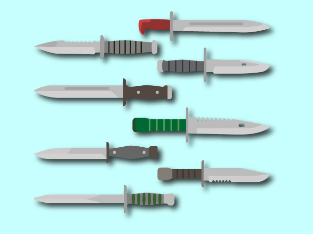 Knives Weapon Tool Logo Vector