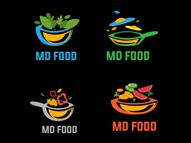 Creative Food Company Logo Design Idea For Free Download